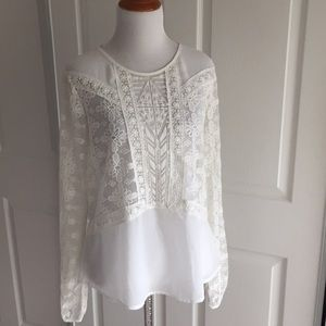 ASTR White Lace Blouse L